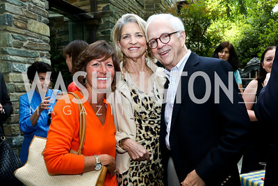 Susan O'Malley, Lila and Brendan Sullivan. Photo by Tony Powell. 2nd Annual Marina Orth Foundation Benefit. Orth Residence. May 18, 2014