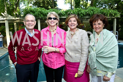 William Hughes, Margaret Cromelin, Ann Compton, Sally Bedell Smith. Photo by Tony Powell. 2nd Annual Marina Orth Foundation Benefit. Orth Residence. May 18, 2014