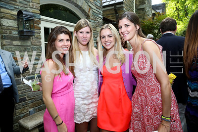 Sophie Smith, Mackenzie Smith, Gillian Warner, Eliza Sherman. Photo by Tony Powell. 2nd Annual Marina Orth Foundation Benefit. Orth Residence. May 18, 2014