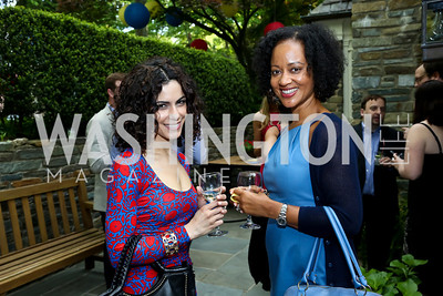 Kathy Jalali, Natasha Watkins. Photo by Tony Powell. 2nd Annual Marina Orth Foundation Benefit. Orth Residence. May 18, 2014
