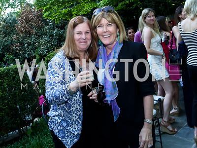Susan Koch, Ginny Grenham. Photo by Tony Powell. 2nd Annual Marina Orth Foundation Benefit. Orth Residence. May 18, 2014