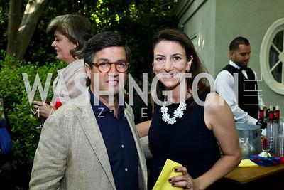 Luis Moreno, Jodi Bond. Photo by Tony Powell. 2nd Annual Marina Orth Foundation Benefit. Orth Residence. May 18, 2014