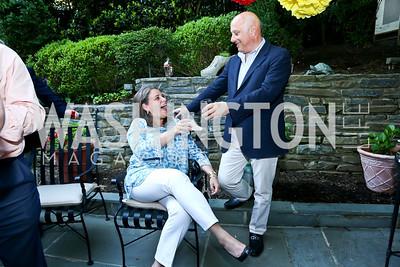 Vasiliki Valanos and John Valanos. Photo by Tony Powell. 2nd Annual Marina Orth Foundation Benefit. Orth Residence. May 18, 2014