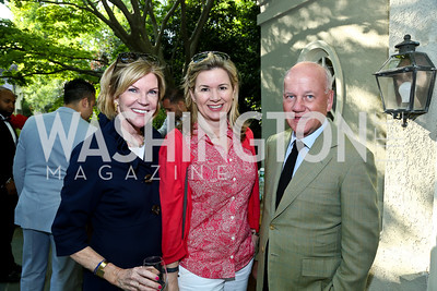 Susan Brophy, Mary Streett, Andrew Athy. Photo by Tony Powell. 2nd Annual Marina Orth Foundation Benefit. Orth Residence. May 18, 2014