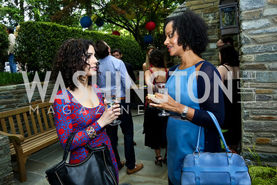 Kathy Jalali, Natasha Watkins. Photo by Tony Powell. 2nd Annual Marina Orth Foundation Benefit. Orth Residence. May 18, 2014
