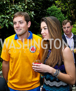 Luke Russert, Liz Vasily. Photo by Tony Powell. 2nd Annual Marina Orth Foundation Benefit. Orth Residence. May 18, 2014