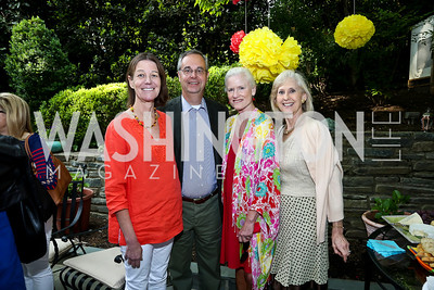 Tamera Luzzatto, David Leiter, Caroline Croft, Willee Lewis. Photo by Tony Powell. 2nd Annual Marina Orth Foundation Benefit. Orth Residence. May 18, 2014