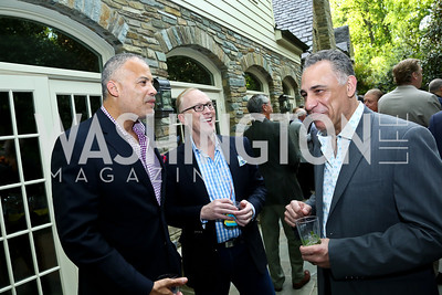 Dr. Benjamin Watkins, Dr. Gene Giannini, Dr. Hamid Kazemi. Photo by Tony Powell. 2nd Annual Marina Orth Foundation Benefit. Orth Residence. May 18, 2014
