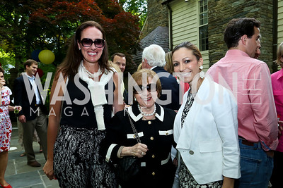 Muni Jensen, Irma Frank, Pilar O'Leary. Photo by Tony Powell. 2nd Annual Marina Orth Foundation Benefit. Orth Residence. May 18, 2014