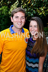 Luke Russert, Liz Vasily. Photo by Tony Powell. 2nd Annual Marina Orth Foundation Benefit. Orth Residence. May 18, 2014