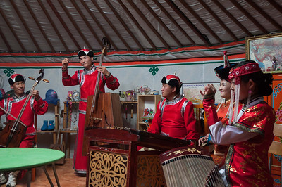Lovely concert of Mongolian music played on traditional instruments and with throat singing.