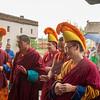 "Monks in training; Tibetan ""yellow hat"" branch of Buddhism."