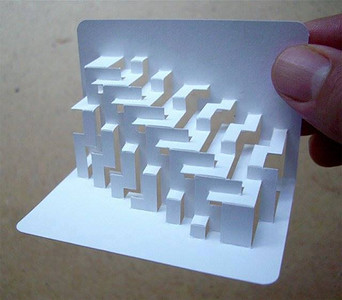 3-D business cards..