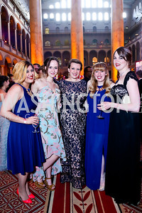 Jenna Duncan, Rachel Tate, Michelle Muntifering, Allie Parris, Mackenzie Douglas. Photo by Tony Powell. 30th Annual Helen Hayes Awards. Building Museum. April 21, 2014