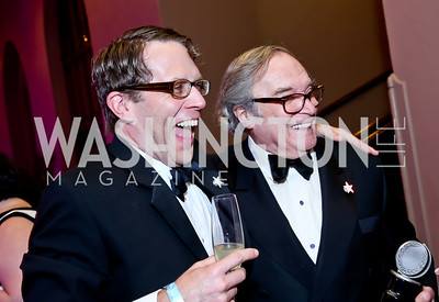 Jeremy Webb, HH Award Winner Ted van Griethuysen. Photo by Tony Powell. 30th Annual Helen Hayes Awards. Building Museum. April 21, 2014
