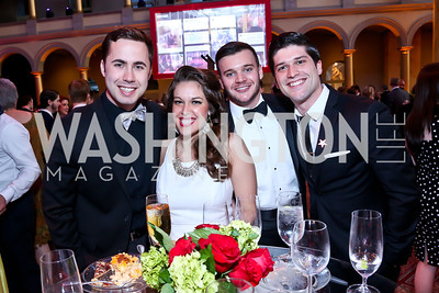 Nick Lehan, Angela Miller, Michael Litchfield, Sam Edgerly. Photo by Tony Powell. 30th Annual Helen Hayes Awards. Building Museum. April 21, 2014