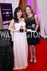 HH Award Winners Diana Huey, Jessica Vaccaro. Photo by Tony Powell. 30th Annual Helen Hayes Awards. Building Museum. April 21, 2014