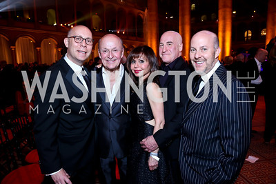 Craig Pascal, Victor Shargai, Heidi Murkoff, Erik Murkoff, Bruce Pascal. Photo by Tony Powell. 30th Annual Helen Hayes Awards. Building Museum. April 21, 2014
