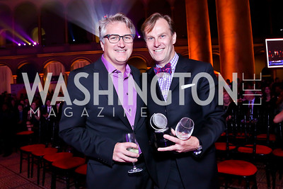 "HH Award Winners for ""Hello Dolly"" Eric Schaeffer, Paul Tetreault. Photo by Tony Powell. 30th Annual Helen Hayes Awards. Building Museum. April 21, 2014"