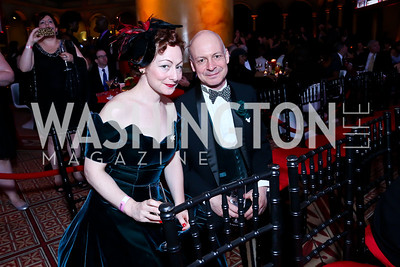 Sabrina Mandell, Mark Jaster. Photo by Tony Powell. 30th Annual Helen Hayes Awards. Building Museum. April 21, 2014