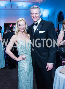 Sarah Meahl, Edward Watts. Photo by Tony Powell. 30th Annual Helen Hayes Awards. Building Museum. April 21, 2014
