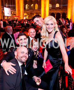 Actors Brett Hemmerling, Bryan Knowlton, Jessica Vaccaro, Joseph Ammiano, John Romano, Jennifer Cordiner. Photo by Tony Powell. 30th Annual Helen Hayes Awards. Building Museum. April 21, 2014