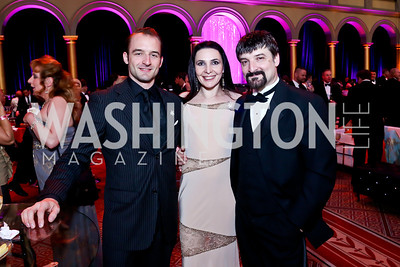 Ben Cunis, Irina and Paata Tsikurishvili. Photo by Tony Powell. 30th Annual Helen Hayes Awards. Building Museum. April 21, 2014