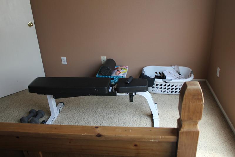 Bekah's gym // master bedroom
