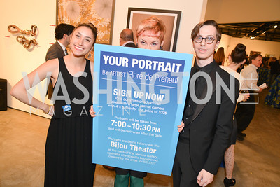 Nathalie Von Veh, Katie Macyshyer, Michael Schiffer, 33rd Annual, Washington Project for the Arts, Art Auction, Gala, SELECT, at, Artisphere, Saturday, March 22, 2014,  Photo by Ben Droz.