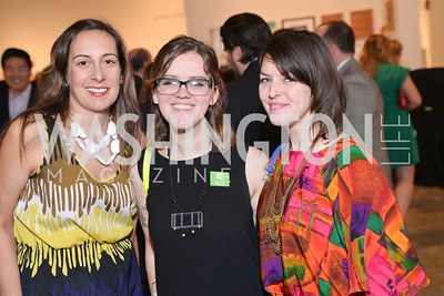 Kristina Bilonick, Eames Armstrong, Deena Odelle Hyatt,  33rd Annual, Washington Project for the Arts, Art Auction, Gala, SELECT, at, Artisphere, Saturday, March 22, 2014,  Photo by Ben Droz.