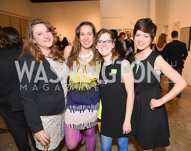 Stefanie Fedor, Kristina Bilonick, Eames Armstrong, Rania Hassan, 33rd Annual, Washington Project for the Arts, Art Auction, Gala, SELECT, at, Artisphere, Saturday, March 22, 2014,  Photo by Ben Droz.