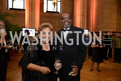 Hon. Donna Shalala and Kojo Nnamdi.