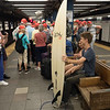 A NYC Surfer on the subway!