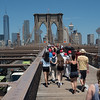 On the Brooklyn Bridge to Manhattan