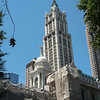 City Hall in foreground and Woolworth Building