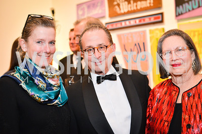 Colleen Doly, Andrew Smulian, Ronni Smulian, 59th Annual Corcoran Ball.  Friday, April 25th, 2014.  Photo by Ben Droz.