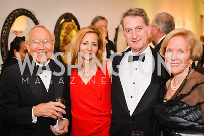 Keith Lindgren, Logen Mackethan, John Mackethan, Janet Lindgran,59th Annual Corcoran Ball.  Friday, April 25th, 2014.  Photo by Ben Droz.