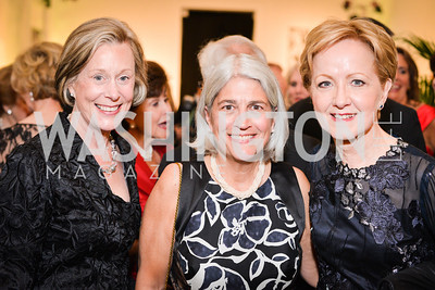 Elizabeth Lewis, Michela English, Ann Stock,  59th Annual Corcoran Ball.  Friday, April 25th, 2014.  Photo by Ben Droz.