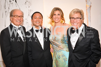 Jerry Morrison, Ryan Mediano, Ivy Howells, Stephen Symons, 59th Annual Corcoran Ball.  Friday, April 25th, 2014.  Photo by Ben Droz.