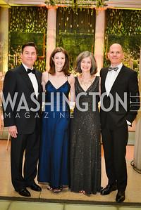 Ron Correa, Tanya Correa,  Jessica Walten, Robert Walton,  59th Annual Corcoran Ball.  Friday, April 25th, 2014.  Photo by Ben Droz.