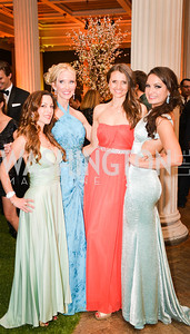 Anastasia Dellaccio, Lindsey Mask, Jana Sedlakova, Fran Holuba,  59th Annual Corcoran Ball.  Friday, April 25th, 2014.  Photo by Ben Droz.