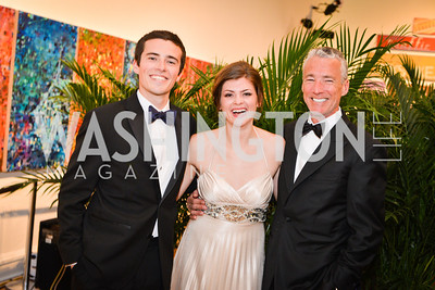 John Collins, Jessica Maroney, Patrck Collins, 59th Annual Corcoran Ball.  Friday, April 25th, 2014.  Photo by Ben Droz.