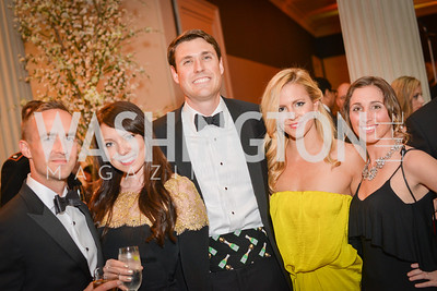 Jesse Sutton, Kim Sutton, Robert Carey, Christin Carey, Melissa Pazornik, Corcoran Ball, Photo by Ben Droz