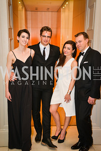 Kate Warren, Martin Swift, Sophie Blake, Daniel Karna,59th Annual Corcoran Ball.  Friday, April 25th, 2014.  Photo by Ben Droz.