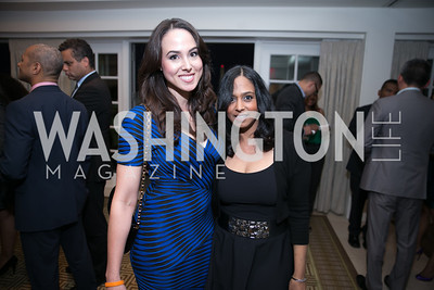 Meena Harris, Maya Harris. Photo by Alfredo Flores. 5th Annual Our Voices Celebrating Diversity in Media reception to kick off White House Correspondents Weekend festivities. Hay Adams Hotel. May 2, 2014