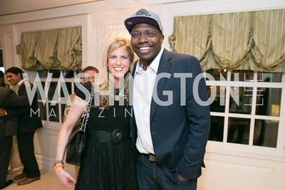Lisa Ellman, Reggie Love. Photo by Alfredo Flores. 5th Annual Our Voices Celebrating Diversity in Media reception to kick off White House Correspondents Weekend festivities. Hay Adams Hotel. May 2, 2014