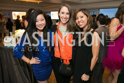 Glenda Fu, Arielle Nathan, Gwen Broerman.  Photo by Alfredo Flores. 5th Annual Our Voices Celebrating Diversity in Media reception to kick off White House Correspondents Weekend festivities. Hay Adams Hotel. May 2, 2014