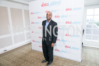 Jamal Simmons. Photo by Alfredo Flores. 5th Annual Our Voices Celebrating Diversity in Media reception to kick off White House Correspondents Weekend festivities. Hay Adams Hotel. May 2, 2014