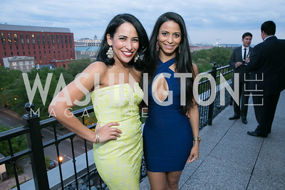 Carolina Espinal, Tina D'Souza.  Photo by Alfredo Flores. 5th Annual Our Voices Celebrating Diversity in Media reception to kick off White House Correspondents Weekend festivities. Hay Adams Hotel. May 2, 2014