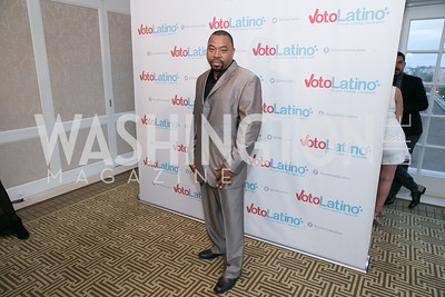 Chilly Ed Beats.  Photo by Alfredo Flores. 5th Annual Our Voices Celebrating Diversity in Media reception to kick off White House Correspondents Weekend festivities. Hay Adams Hotel. May 2, 2014